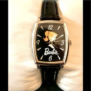 Vintage WORKING Barbie Ponytail Black Watch
